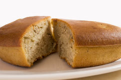 Two portion of  a wallnut cake Royalty Free Stock Photo