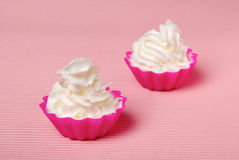 Two portions of whipped cream Royalty Free Stock Photo