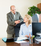 Two positive colleagues Stock Photography