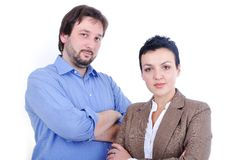 Two positive confident people Royalty Free Stock Photos