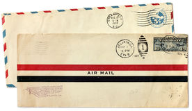 Two Postal Covers Royalty Free Stock Image