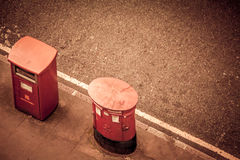 Two postboxes Royalty Free Stock Images