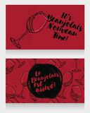 Two posters for Beaujolais Nouveau arrive Stock Photography