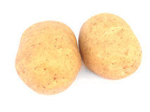 Two potatoes isolated Royalty Free Stock Photos