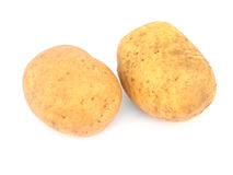 Two potatoes isolated Stock Image