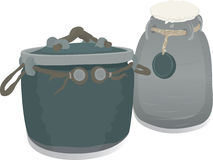 Two pots Royalty Free Stock Image