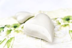 Pottery white Heart Stock Photography