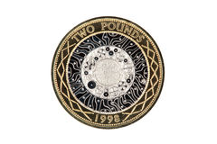 Two pound coin, Standing on the Shoulders of Giants Stock Photos