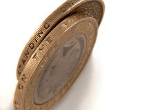 Two pound coins Stock Image