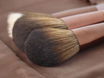 Two powder brushes for make-up Stock Photo