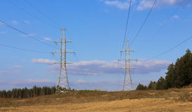 Two power line Royalty Free Stock Image
