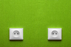 Two Power Outlet Stock Photography