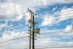 Two Power Poles Stock Images