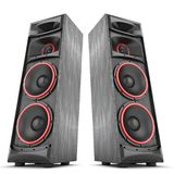 Two Power Speakers Boxes Stock Photo