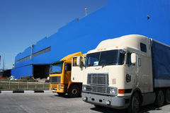 Two powerful lorries Royalty Free Stock Photo