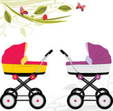 Two prams Royalty Free Stock Photography