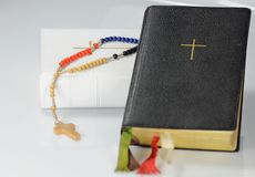 Two prayer books with rosary Royalty Free Stock Images