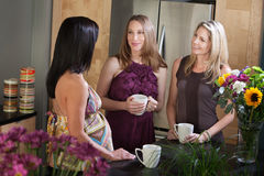 Two Pregnant Women with Friend Royalty Free Stock Photos