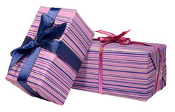 Two present boxes Royalty Free Stock Image