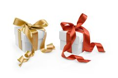 Two present boxes Royalty Free Stock Photo