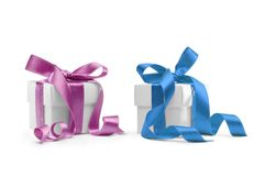 Two present boxes Royalty Free Stock Images