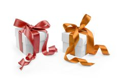 Two present boxes Stock Photography