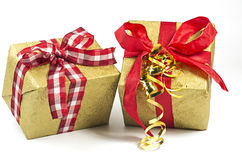 Two present parcels Royalty Free Stock Photography