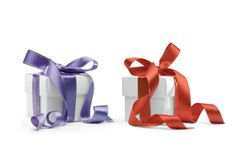 Two presents boxes Stock Photo