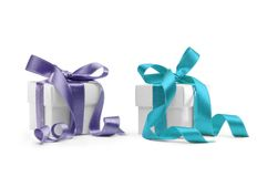 Two presents boxes Royalty Free Stock Image