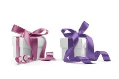 Two presents boxes Royalty Free Stock Images