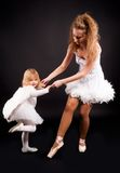 Two pretty ballerina's royalty free stock image