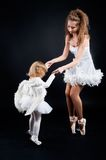 Two pretty ballerina's Royalty Free Stock Photo