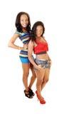 Two pretty black girls. Stock Image