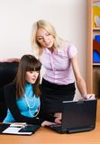 Two pretty businesswomen Stock Photos