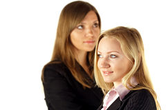 Two pretty businesswomen Stock Photo