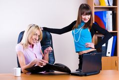Two pretty businesswomen Stock Photography
