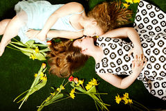 Two pretty cute girls. Royalty Free Stock Images