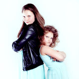 Two pretty cute girls. Royalty Free Stock Photography