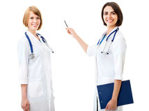 Two pretty female doctors Stock Photography
