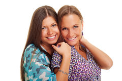 Two pretty friends Stock Image
