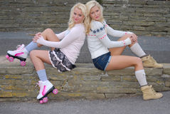 Two pretty girl friends Royalty Free Stock Image