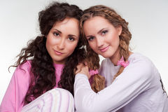 Two pretty girls Royalty Free Stock Images