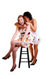 Two pretty girls. Royalty Free Stock Image