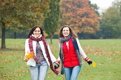 Two pretty girls having fun Stock Image