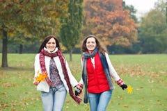 Two pretty girls having fun Stock Image