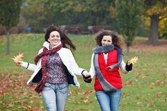 Two pretty girls having fun Royalty Free Stock Image