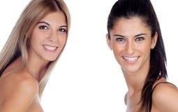 Two pretty girls Stock Photos