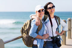Two pretty tourists Royalty Free Stock Photo
