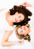 Two pretty woman Royalty Free Stock Images