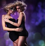 Two pretty women Royalty Free Stock Photo